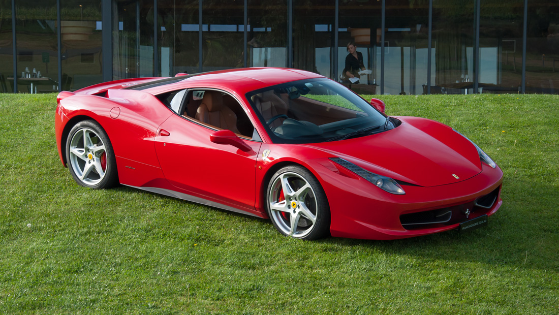 Ferrari 458 Italia at Balgownie Estate Yarra Valley