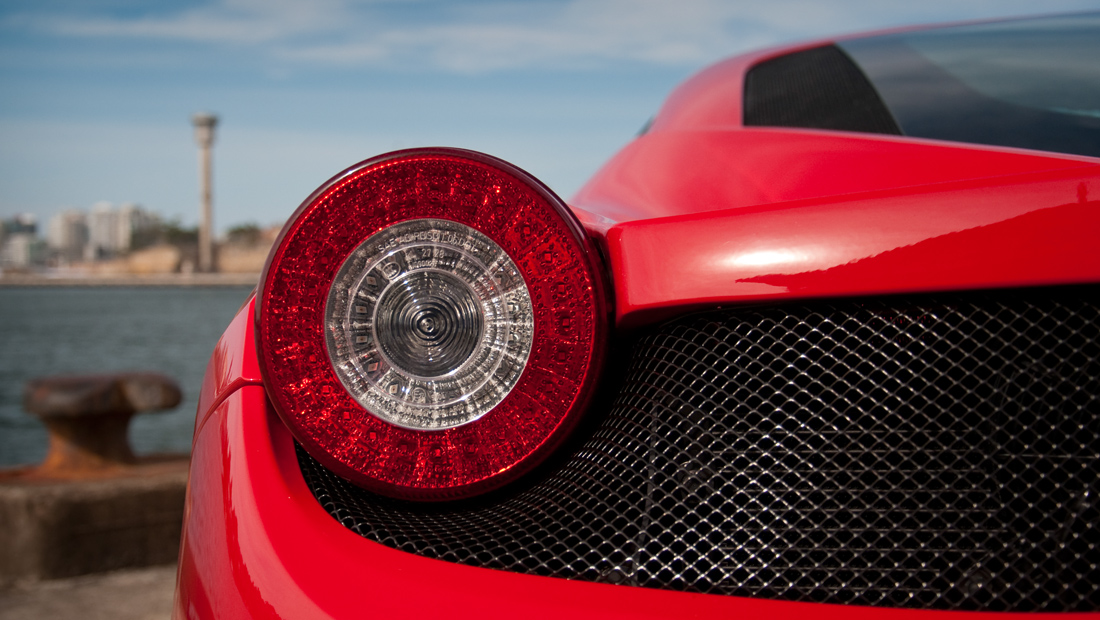 Rear Tail Light - Ferrari 458 Italia on Sydney Harbour