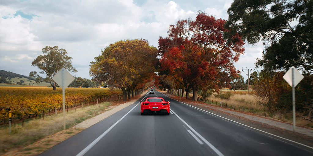 Drive a Ferrari in the Adelaide Hills - South Australia 2021